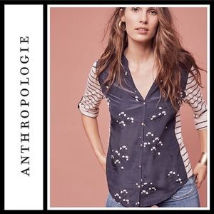 Anthropologie Tiny Sail Boat Star Gazing Top